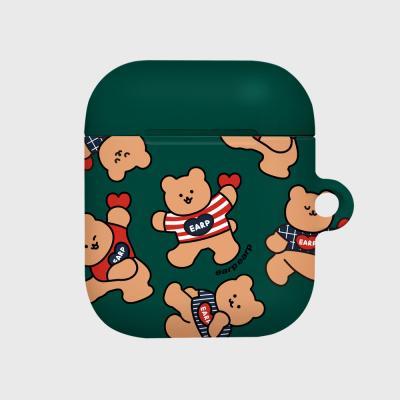 Dot dancing bear-green(Hard air pods)