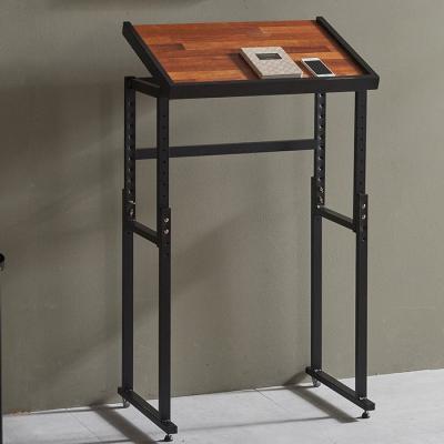 심플라인 철제 멀바우 원목 테이블 640