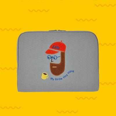 노트북 파우치 방수캔버스_부클 비어드맨 (아이패드, 13, 15)