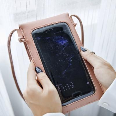 로즐리 스마트폰 터치 크로스백(핑크)
