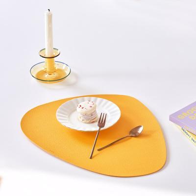 북유럽 식탁 조약돌 가죽 식탁매트 테이블매트