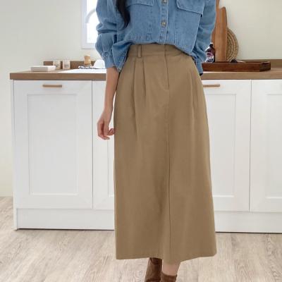 Autumn Pintuck Long Skirt