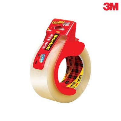 3M 스카치™ 포장용 테이프 3615 투명 + 디스펜서