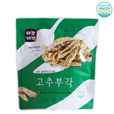 [속초명물] 바삭바삭 알싸한 고추 부각 30gx5개