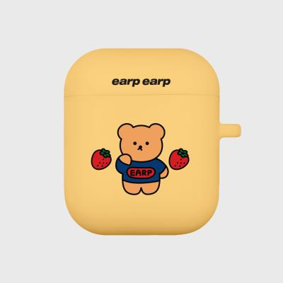 strawberry bear-yellow(Air pods)