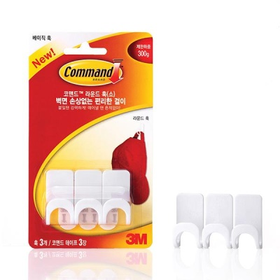3M 코맨드 훅 17402 라운드 훅 (소) [00359659]