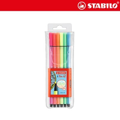 스타빌로 펜68 6색 세트(6C-1)