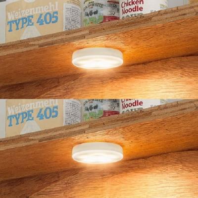 아이린 충전식 터치 무드등 화이트,웜화이트 불빛,2P