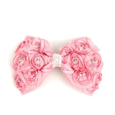 [헤어보우] Cubic Love rose 헤어핀