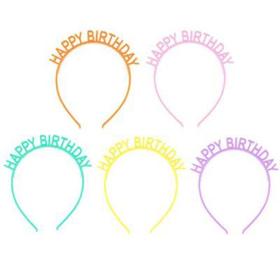 파스텔 생일 머리띠 (5개)