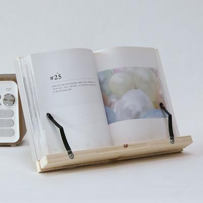 가벼운 휴대용 높이조절 책받침대 원목 데일리 독서대