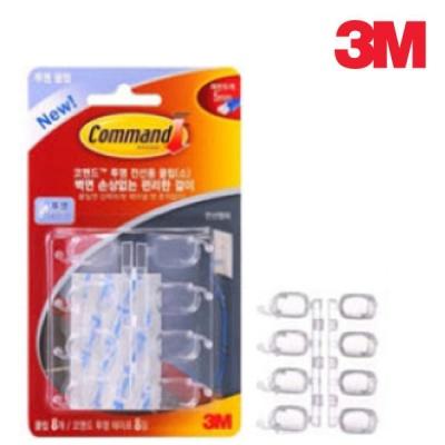 3M 17302 코맨드 투명 전선용 클립(소)