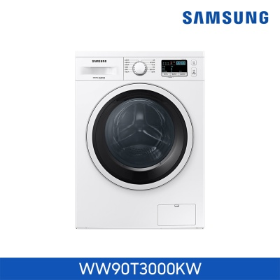 삼성전자 빌트인 소형 드럼 세탁기 WW90T3000KW 9KG
