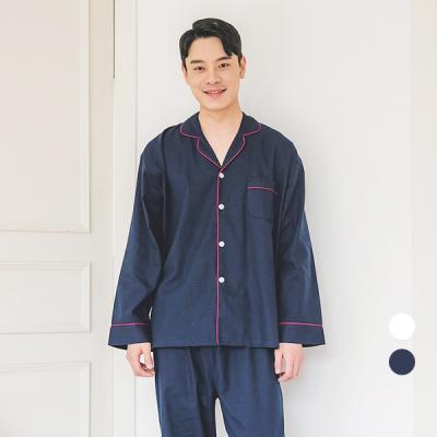 [쿠비카]포근한 기모 파이핑 남성잠옷 BNBR-M076