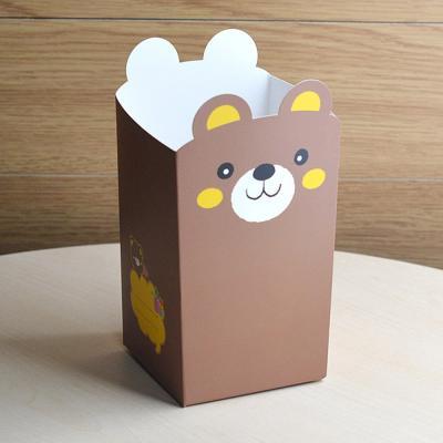 팝콘트레이세트(메모상자+손잡이비닐) 곰