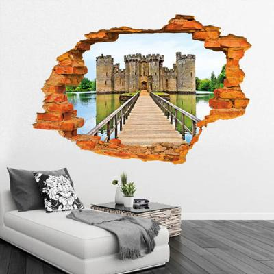 뚫린 벽 3D 다리스티커