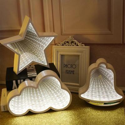 LED 무한터널 착시 거울 미러 라이트 무드등 조명 5종