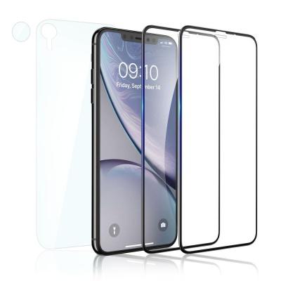 아이폰 XR 풀커버 강화유리 액정보호필름 2매+후면필