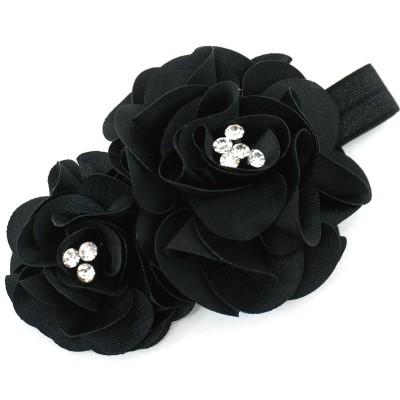 트윙클헤어밴드(블랙) 수제헤어밴드 유아헤어밴드 돌잔치헤어밴드