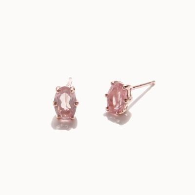 제이로렌 0M01810 로즈쿼츠 장미석원석 실버 귀걸이