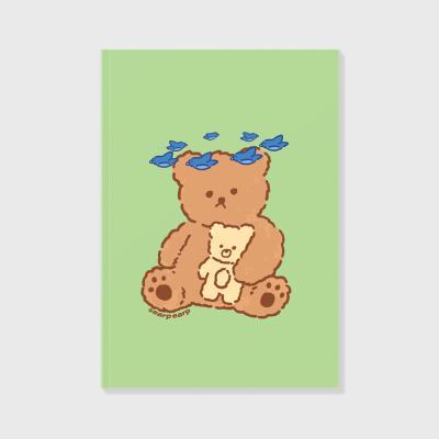 Blue bird bear-green(노트)