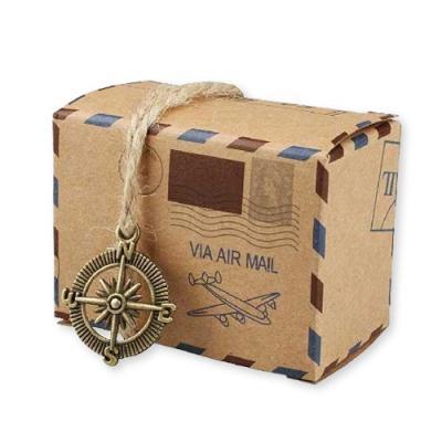 빈티지 소포 모양 상자 (5개)