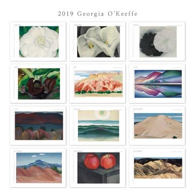 [2019 명화 캘린더] Georgia O'Keeffe 조지아 오키프 Type A