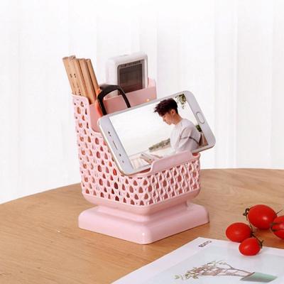 휴대폰거치 3단 펜꽂이(핑크)
