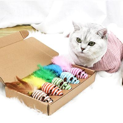 깃털 방울쥐 고양이장난감 5p세트