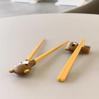 2개입 유아 아동 연습용 교정용 곰돌이 실리콘 젓가락