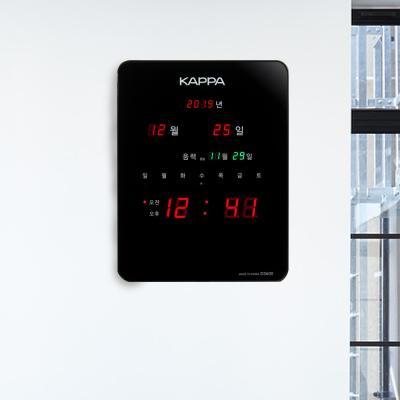 카파 D3600 고휘도 슈퍼 RED LED 디지털벽시계 블랙