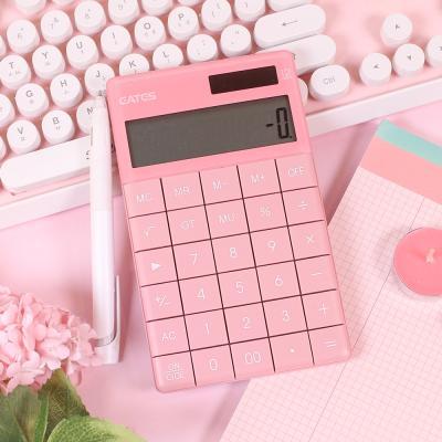 핑크 디자인 전자 계산기 갓샵 사무용 미니 계산기