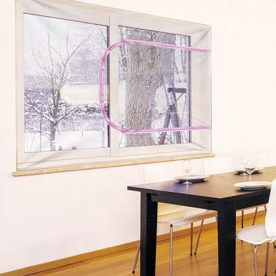 외풍차단 실내난방보온 창문 지퍼환기 투명방풍막소형
