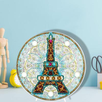 에펠 탑 DIY 비즈 십자수 무드등 어린이 보석십자수
