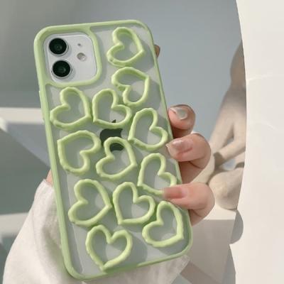 아이폰 케이스 12 11 프로 맥스 미니 X 8 그린 하트