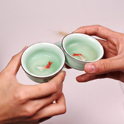 [1+1 대만 물고기잔] 예쁜소주잔 사케 고량주잔