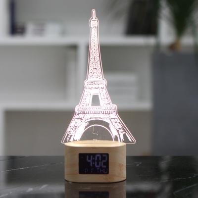 플라이토 아크릴 무드등 에펠탑 LED 탁상시계