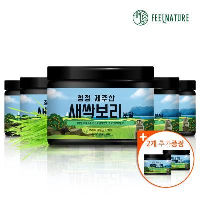 필네이처 청정 제주산 100% 새싹보리분말 가루 70g x5