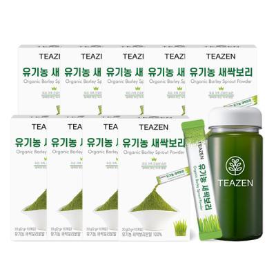 티젠 유기농 새싹보리 분말 4주분 (90스틱+보틀)