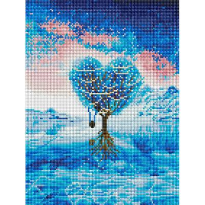 푸른 사랑나무 (캔버스형) 보석십자수 30x40