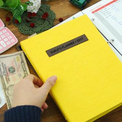 제이로그 캐쉬북 머니플래너 바인더-옐로우