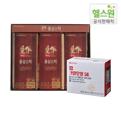[헬스원] 황작 홍삼스틱(30포) + 크릴오일56