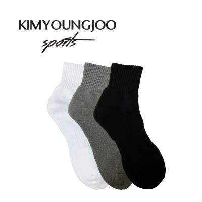 KYJ 미드컷 무지 베이직 쿠션 밴딩삭스 남성 골프양말