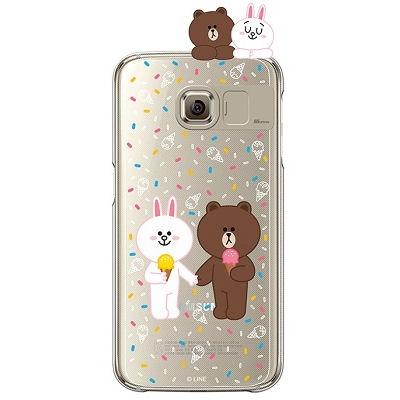 [SG DESIGN] Galaxy S7/ S7 Edge 라인프렌즈 ICE CREAM LIGHT UP Case - GOLD(하드타입/라이팅)