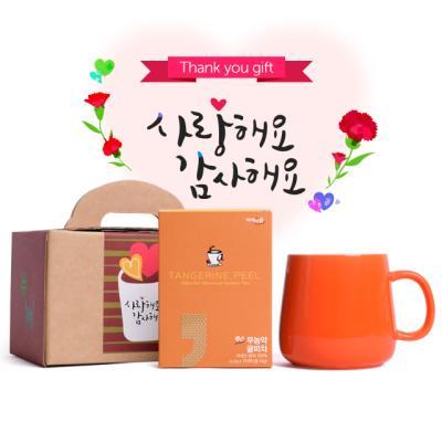 볶은 무농약귤피차 7티백 오슬로머그컵 선물세트 NB