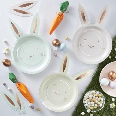 3색 토끼 종이접시 Easter bunny plate 이스터 버니