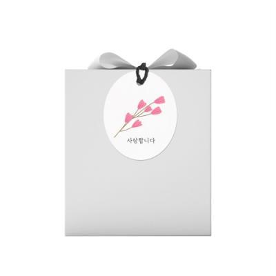 타원 사랑 꽃가지 텍 (10개)