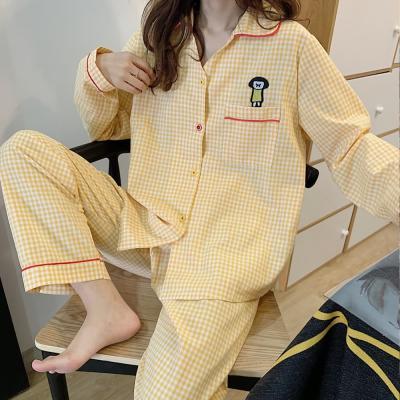 여성 홈웨어 잠옷 세트 파자마 페리 캐릭터 체크