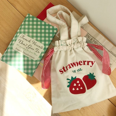 straberry pouch x bag  딸기 파우치 백
