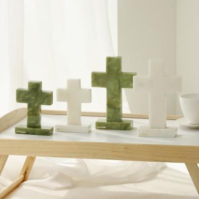 천연 옥 베이직 십자가 L/S